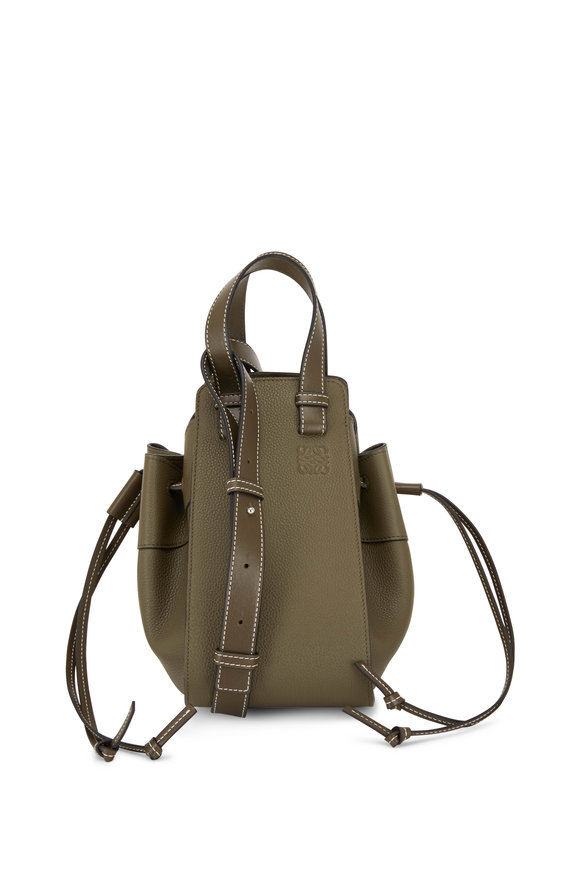 Loewe Hammock Olive Green Grained Leather Small Bag