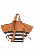 Loewe - Hammock Taupe With Black & White Stripe Small Bag