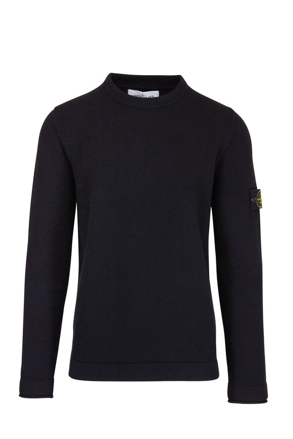 Stone Island Black Striped Crew Sweater