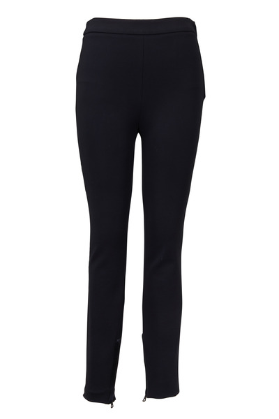 Valentino - Black Compact Jersey Pants