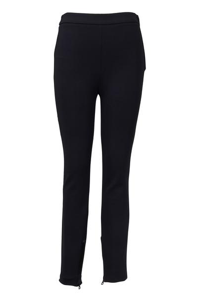 Valentino - Black Compact Jersey Pants