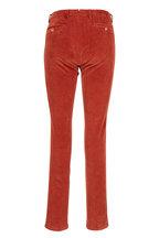 Marco Pescarolo - Red Flat Front Corduroy Pant