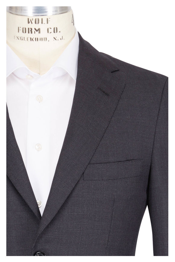 Oxxford Clothes Solid Charcoal Grey Fancy Suit