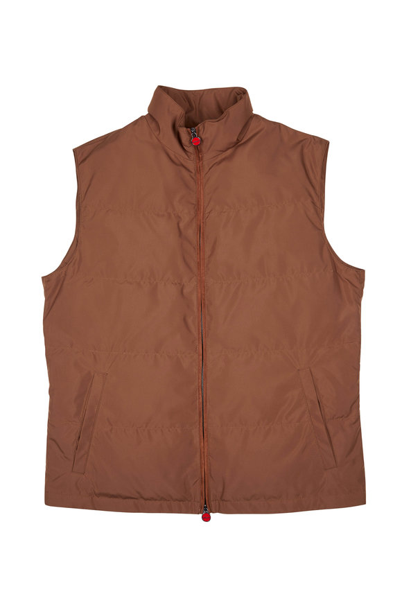 Kiton Brown Zip Rain Vest
