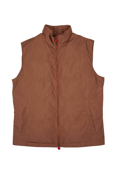 Kiton - Brown Zip Rain Vest