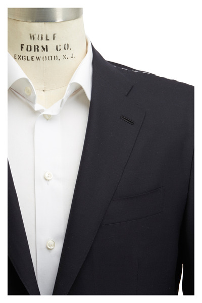 Kiton - Solid Basic Navy Blue Wool Suit