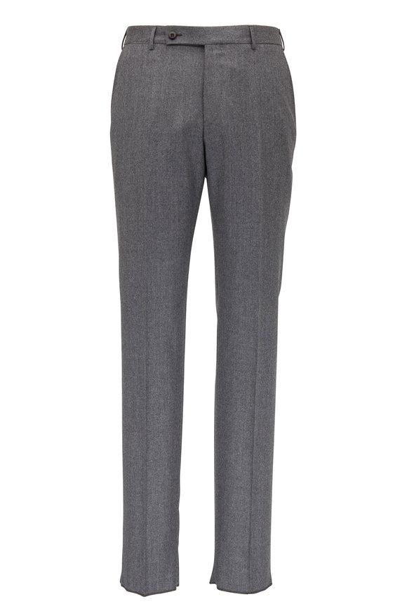 Ermenegildo Zegna Gray Flannel Regular Fit Pant