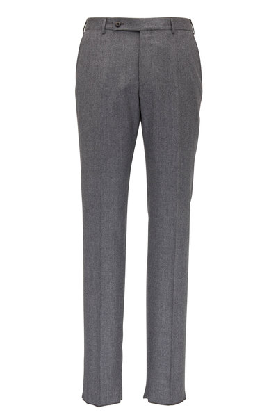 Ermenegildo Zegna - Gray Flannel Regular Fit Pant