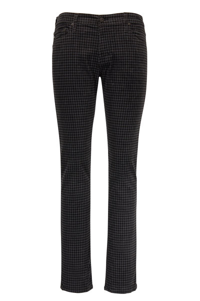 AG - Adriano Goldschmied - Tellis Gray Houndstooth Corduroy Modern Slim Jean