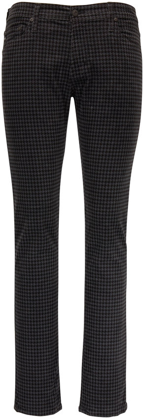 AG - Adriano Goldschmied Tellis Gray Houndstooth Corduroy Modern Slim Jean