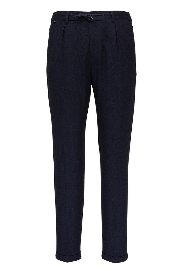 04651/ Smart Navy Flannel Jogging Pant