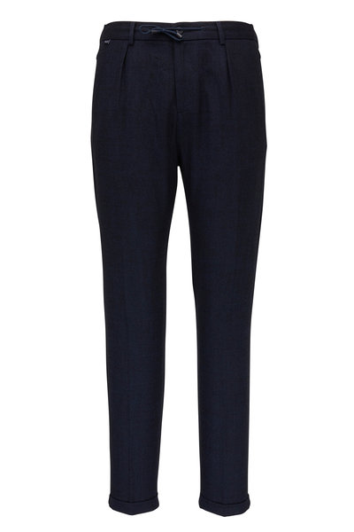 04651/ - Smart Navy Flannel Jogging Pant