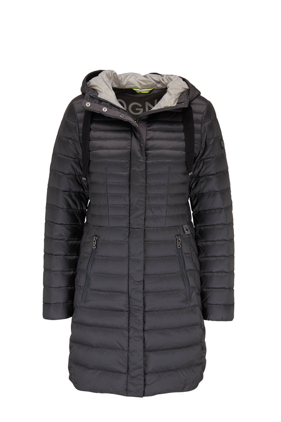 Bogner Kitty Dark Gray Down Hooded Jacket