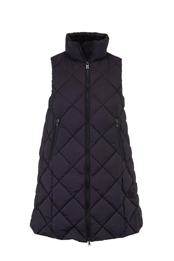 Bogner Tasia Black Long Quilted Puffer Vest