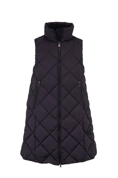 Bogner - Tasia Black Long Quilted Puffer Vest