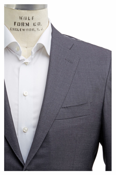 Kiton - Solid Basic Gray Wool Suit