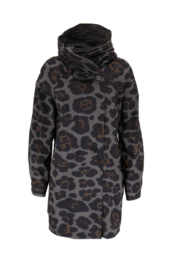 Mycra Pac Nickel Leopard Reversible Hooded Raincoat