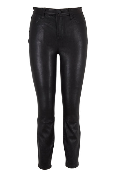 L'Agence - Adelaide Black Noir Leather Pant