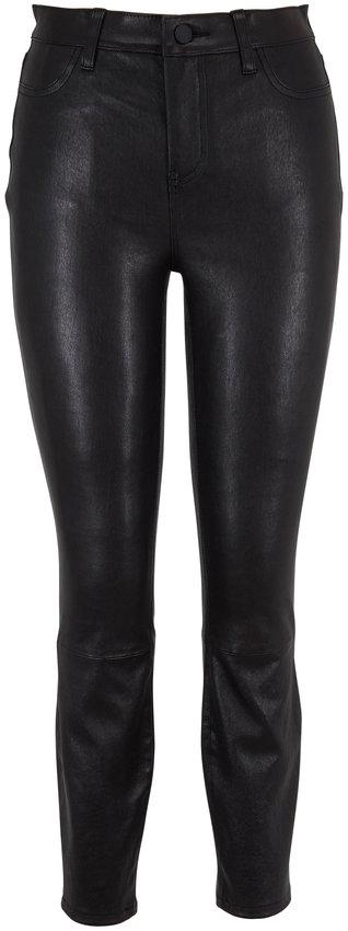 L'Agence Adelaide Black Noir Leather Pant
