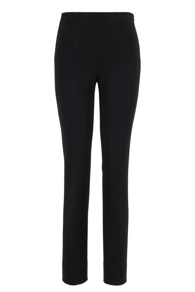 Akris Punto - Black High-Rise Side Zip Legging