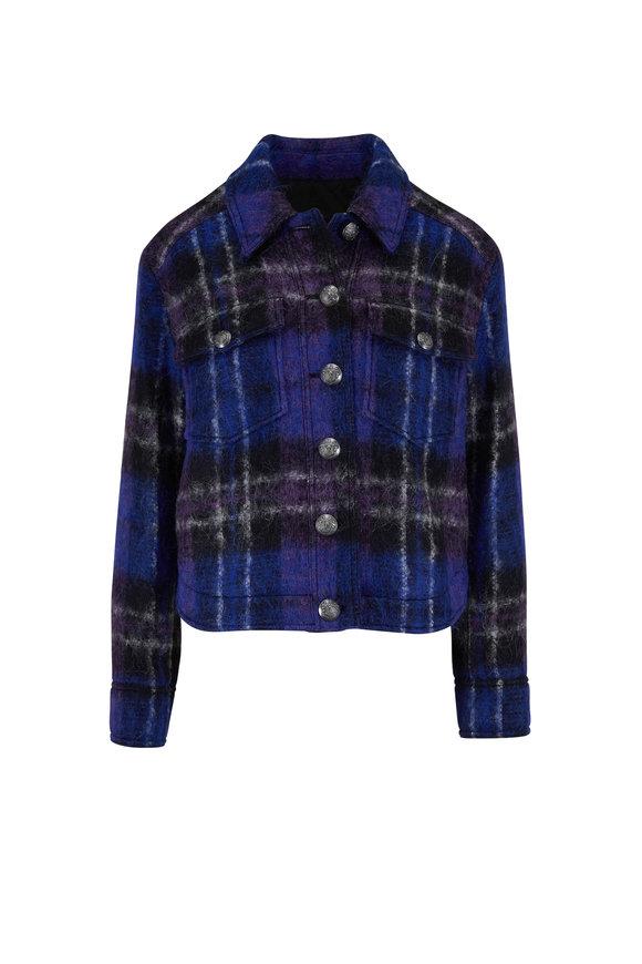Veronica Beard Emmons Black Multi Oversized Plaid Jacket Jacket