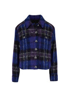 Veronica Beard - Emmons Black Multi Oversized Plaid Jacket Jacket