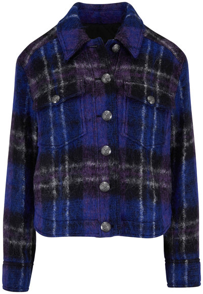 Veronica Beard Emmons Black Multi Oversized Plaid Jacket Jacket
