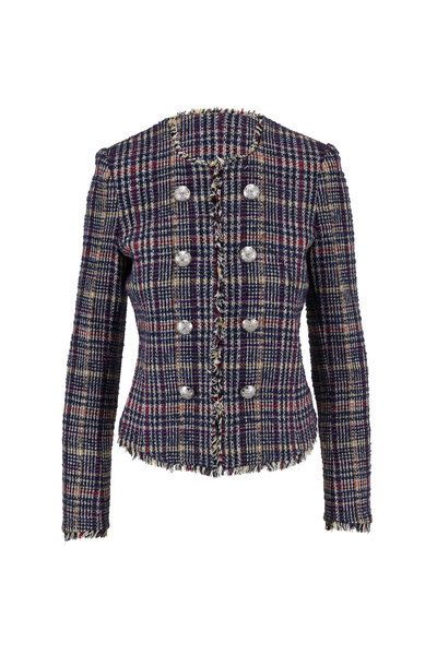 Veronica Beard - Jerry Navy Multi Metallic Tweed Dickey Jacket