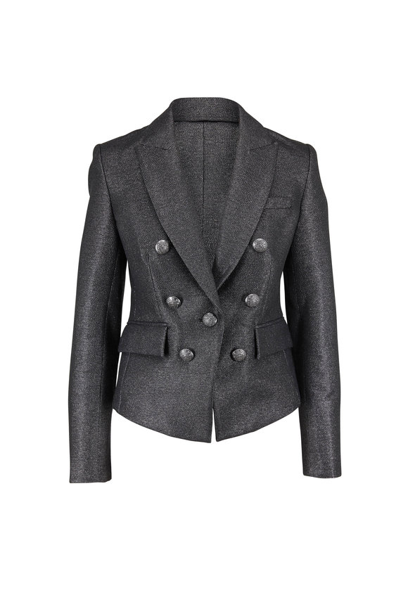 Veronica Beard Diego Silver Lurex Dickey Jacket
