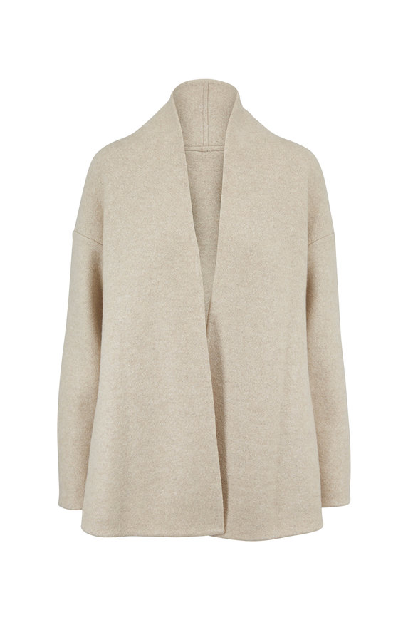 Peter Cohen Indy Oat Boiled Cashmere Open Cardigan