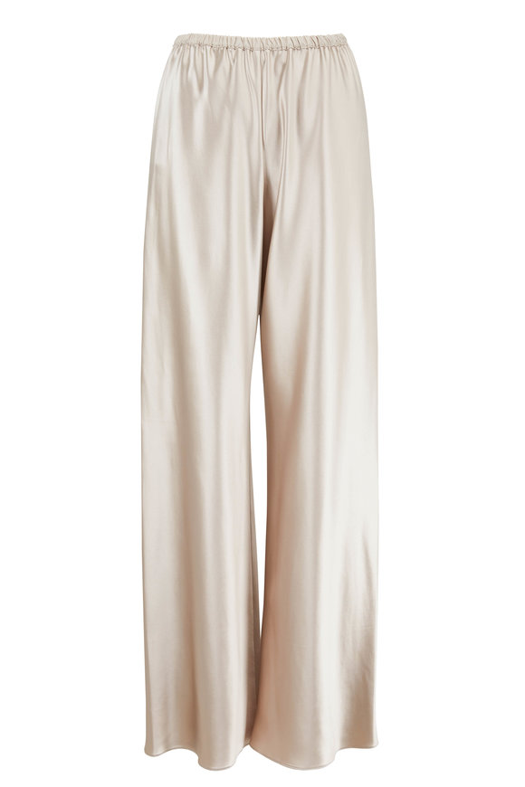 Peter Cohen Bias Oyster Silk Pull-On Pant