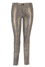 J Brand - Metallic Jaguar Print Leather Mid-Rise Pant
