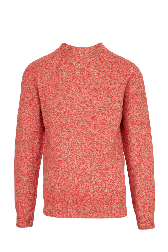 Sunspel Persimmon Wool Crewneck Sweater