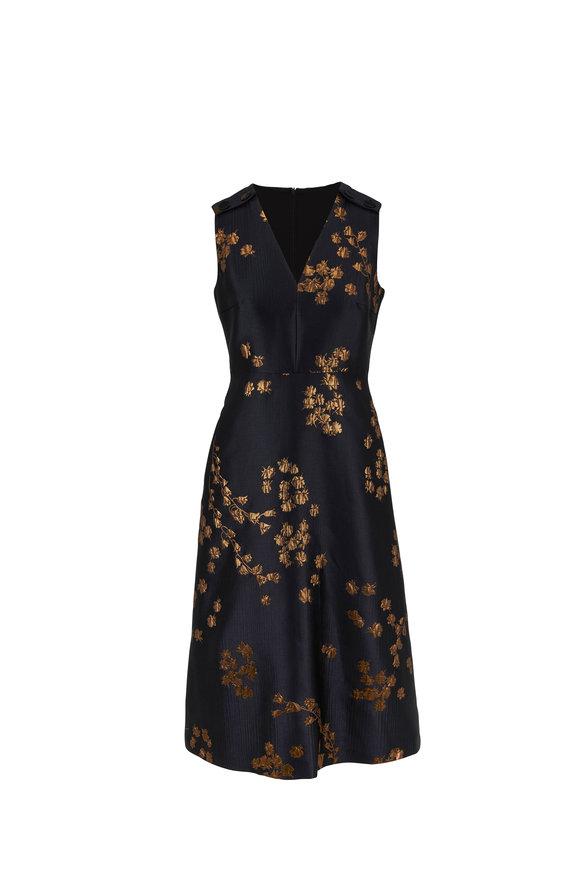 Escada Demmiwa Fantasy Jacquard Sleeveless Dress