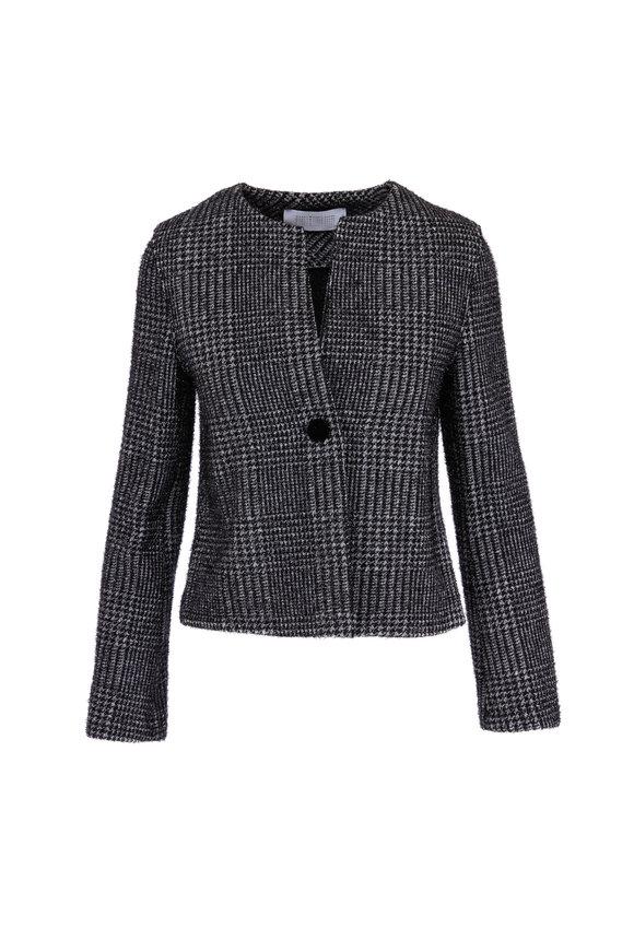 Harris Wharf Black & White Short Sparkle Jacket