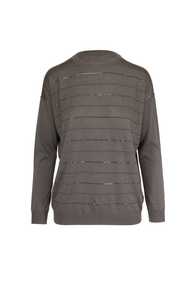 Brunello Cucinelli - Exclusively Ours! Military Cashmere & Silk Sweater