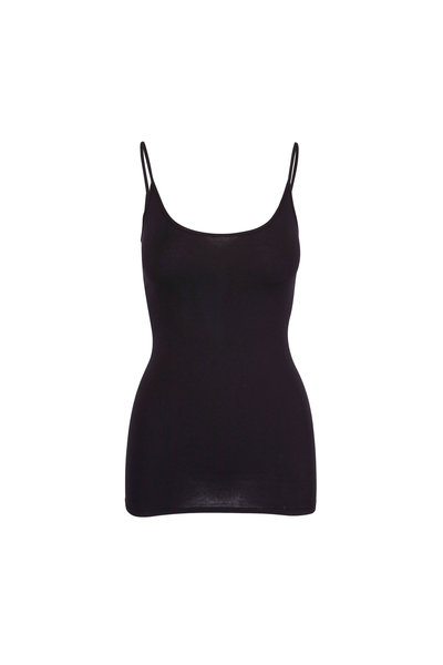 Enza Costa - Black Tunic Layering Tank Top