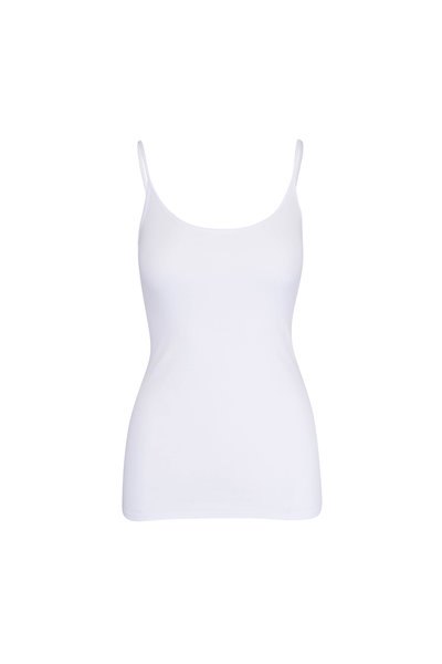Enza Costa - White Tunic Layering Tank Top
