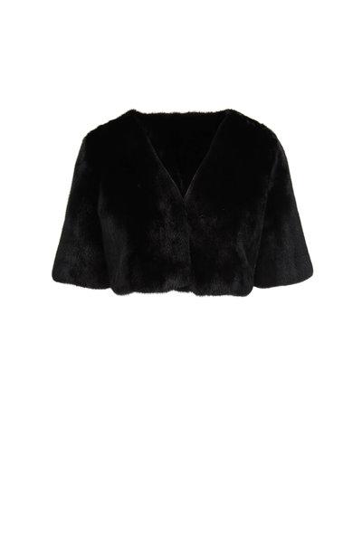 Oscar de la Renta Furs - Black Dyed Mink Bolero