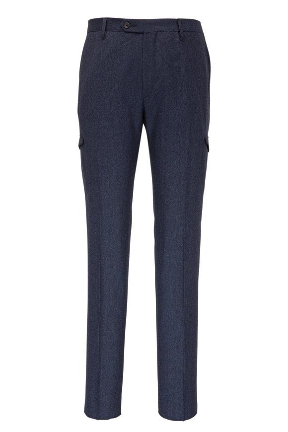 Maurizio Baldassari Slate Flannel Cargo Pant