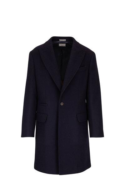 Brunello Cucinelli - Navy Wool Topcoat