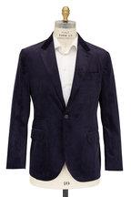 Brunello Cucinelli - Navy Sea Island Corduroy Sportcoat