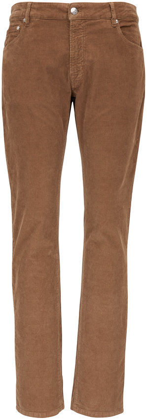 PT Pantaloni Torino Jazz Tan Five Pocket Corduroy Pant