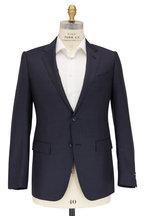 Ermenegildo Zegna - Navy Blue Micro Textured Wool Suit