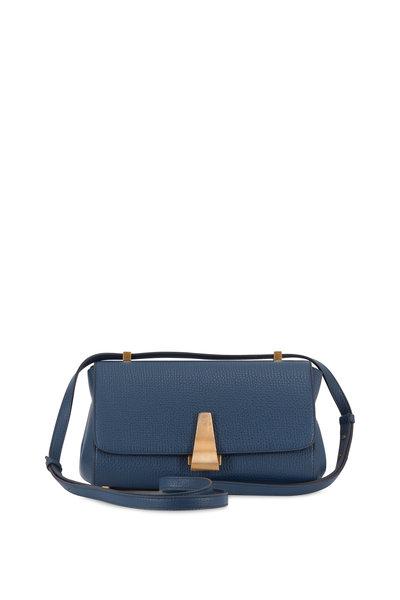Bottega Veneta - BV Angle Deep Blue Palmelatto Front Flap Bag