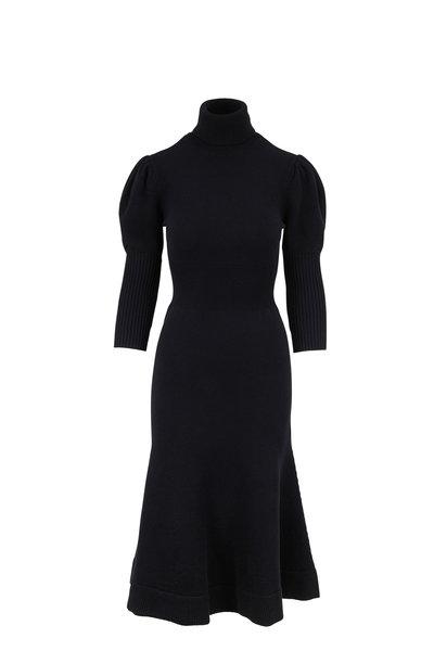 Michael Kors Collection - Black Three-Quarter Sleeve Sweater Dress