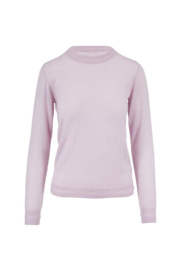 Adam Lippes Lilac Lightweight Cashmere Crewneck Sweater