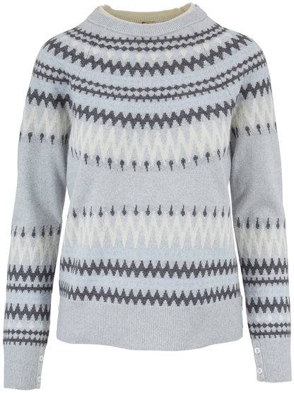 Adam Lippes Fairise Light Gray Crewneck Sweater