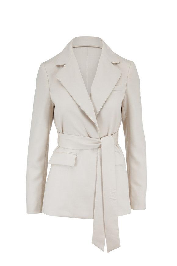 Gabriela Hearst Mita Ivory Cashmere Belted Blazer