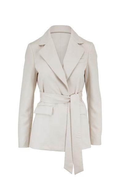 Gabriela Hearst - Mita Ivory Cashmere Belted Blazer